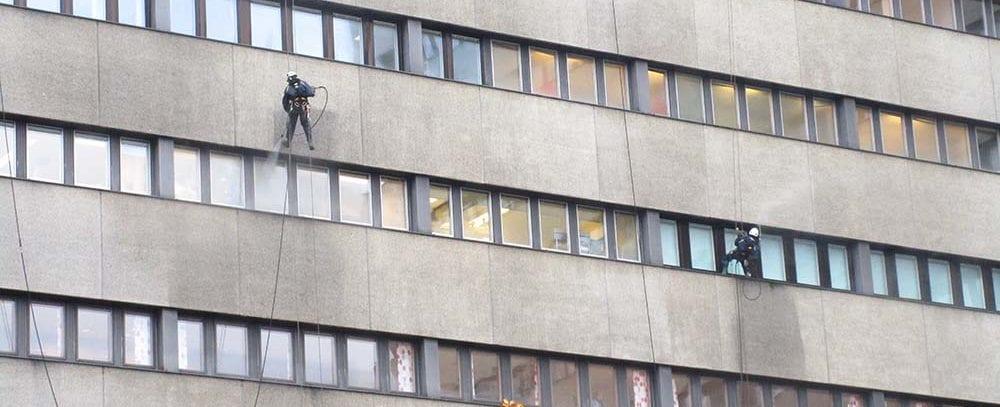 Skadeförebyggande fasadtvätt.